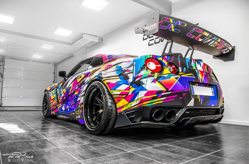 Liberty Widebody Nissan GT R HRE S104 Tuning HRE 15 Unübersehbar   Spaciger Widebody Nissan GT R auf HRE Alu's