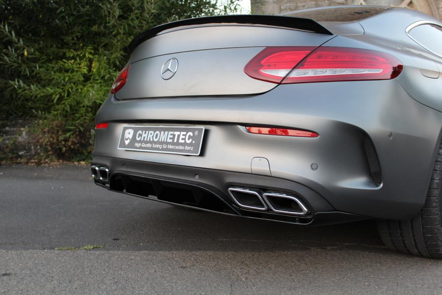 Mercedes benz amg coupe with c63 parts of chrometec for Mercedes benz tuning parts