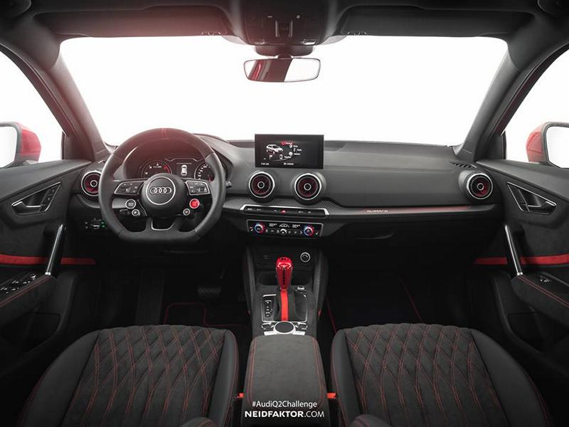 neidfaktor interieur f r den k custom audi der q2. Black Bedroom Furniture Sets. Home Design Ideas