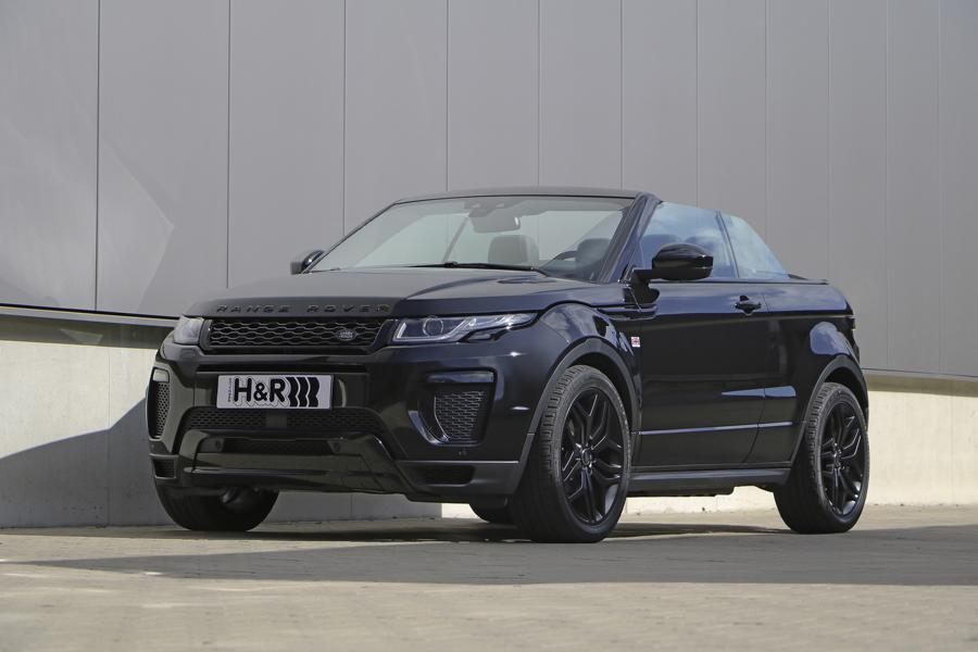 range rover evoque convertible with h r lowering springs. Black Bedroom Furniture Sets. Home Design Ideas