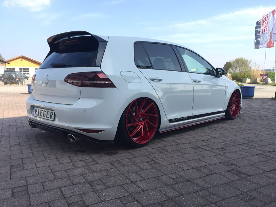 VW Golf 7 GTI ClubSport 20 Z%C3%B6ller mbDesign Rieger Parts 1 VW Golf 7 GTI ClubSport mit 20 Zöller & Rieger Parts