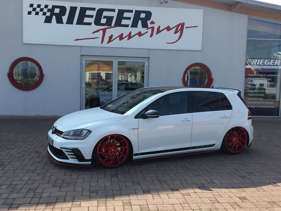 VW Golf 7 GTI ClubSport 20 Zöller mbDesign Rieger Parts 4 VW Golf 7 GTI ClubSport mit 20 Zöller & Rieger Parts