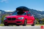 Vossen Wheels VFS 1 BMW 1er F20 Tuning 1 155x103 Vossen Wheels VFS 2 Alu's am knallroten BMW 1er F20