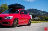 Vossen Wheels VFS 1 BMW 1er F20 Tuning 11 155x103 Vossen Wheels VFS 2 Alu's am knallroten BMW 1er F20
