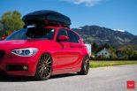 Vossen Wheels VFS 1 BMW 1er F20 Tuning 16 155x103 Vossen Wheels VFS 2 Alu's am knallroten BMW 1er F20