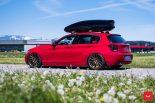 Vossen Wheels VFS 1 BMW 1er F20 Tuning 25 155x103 Vossen Wheels VFS 2 Alu's am knallroten BMW 1er F20