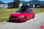 Vossen Wheels VFS 1 BMW 1er F20 Tuning 3 155x103 Vossen Wheels VFS 2 Alu's am knallroten BMW 1er F20