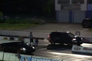 lamborghini gallardo drag races jeep 3 310x205 Video: Dragrace   Jeep Grand Cherokee gegen Lamborghini Gallardo