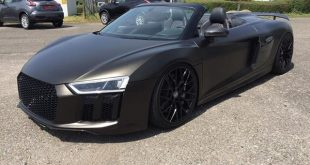 Audi R8 4S Spyder Folierung schwarz matt Goldstaub 2 310x165 Car Wrapping Kuhnert   Audi R8 Spyder in schwarz matt