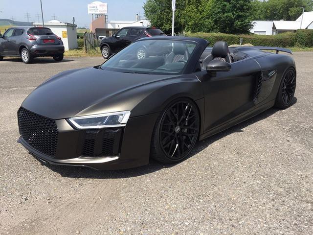 Car Wrapping Kuhnert Audi R8 Spyder In Black Matt Tuningblog Eu