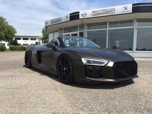 audi r8 4s spyder folierung schwarz matt goldstaub 8 magazin. Black Bedroom Furniture Sets. Home Design Ideas