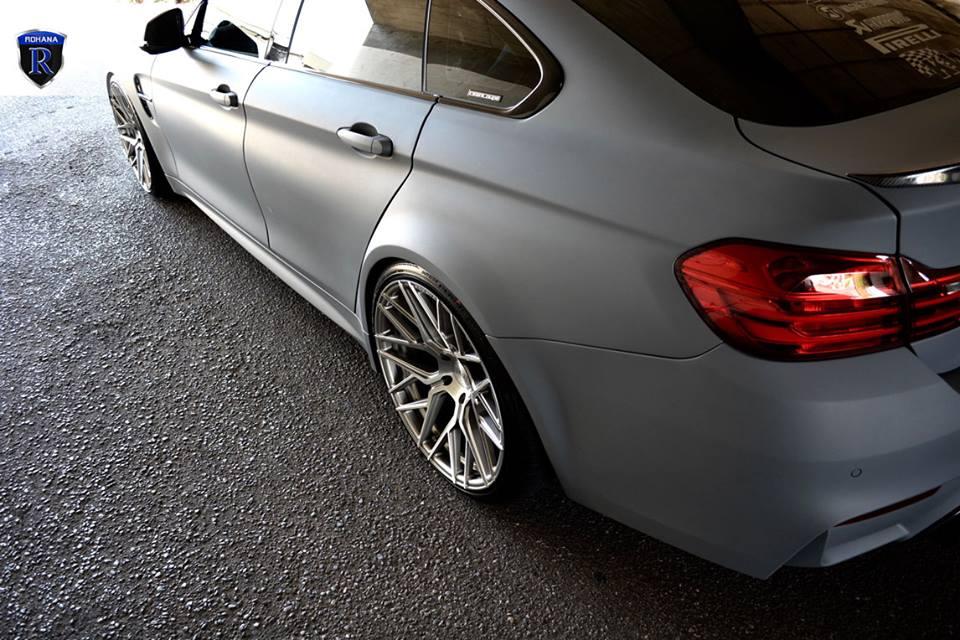 BMW 428i F36 Gran Coupe Rohana RXF10 mattgrau Tuning 3 Krasses Outfit   mattgrauer BMW 428i auf RXF10 Felgen