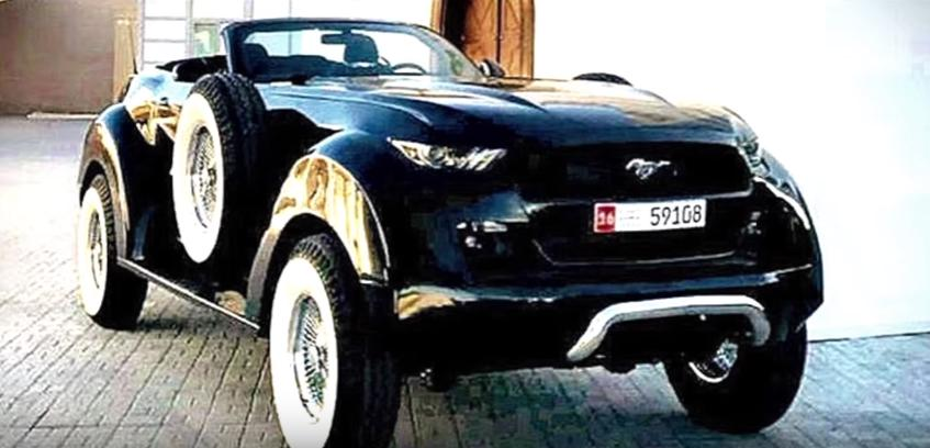 Ford Mustang 4x4 Convertible 20er Jahre Look 1 Verrückt   Ford Mustang 4x4 Convertible im 20er Jahre Look