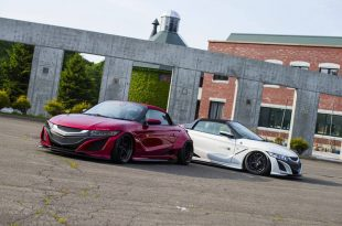Honda S660 Liberty Walk Widebody Kit 2017 Tuning 2 310x205 Fertig   Honda S660 mit fettem Liberty Walk Widebody Kit