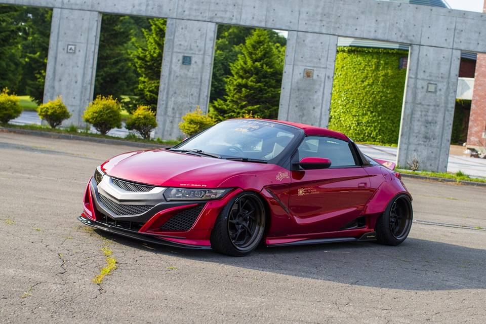 Fertig Honda S660 Mit Fettem Liberty Walk Widebody Kit