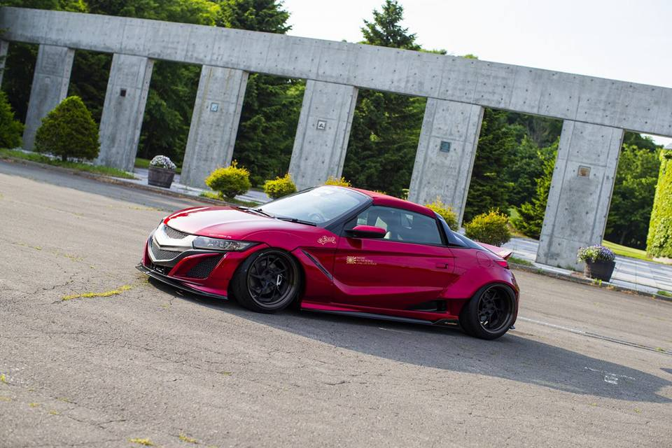 Honda S660 Liberty Walk Widebody Kit 2017 Tuning 7 Fertig   Honda S660 mit fettem Liberty Walk Widebody Kit