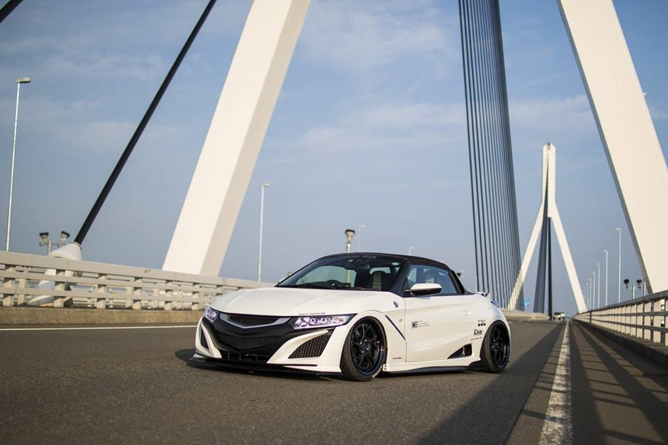 Honda S660 Liberty Walk Widebody Kit 2017 Tuning 8 Fertig   Honda S660 mit fettem Liberty Walk Widebody Kit