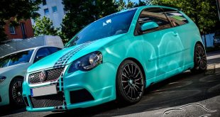 "Matt Caribbean Mint Metallic Folierung VW Polo GTI Tuning 4 310x165 Simoneit VW Polo GTI ""AW"" mit bis zu 320 PS & 430 NM"