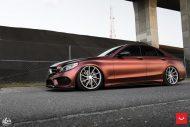 Mercedes Benz W205 Vossen CVT FlipFlop Folierung Bagged Tuning 1 190x127 Mercedes Benz C Klasse (W205) auf Vossen CVT Felgen