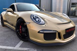 Porsche 911 1007 GT3 Metallic Platinum Gold Folierung Tuning 310x205 Porsche 911 (991) GT3 in Metallic Platinum by BB Folien