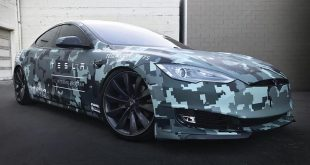 SS Costums Tesla Model S Memorial Day Folierung Camouflage 1 310x165 Zero to 60 Designs   Projekt Tesla Model S zur SEMA 2017