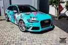 TROPICAL AZURE ART CAR EDITION Audi RS6 Avant Folierung 1 135x90 TROPICAL AZURE ART CAR EDITION No.2/3   Audi RS6 Avant