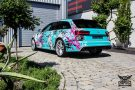 TROPICAL AZURE ART CAR EDITION Audi RS6 Avant Folierung 11 135x90 TROPICAL AZURE ART CAR EDITION No.2/3   Audi RS6 Avant