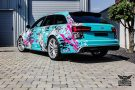 TROPICAL AZURE ART CAR EDITION Audi RS6 Avant Folierung 12 135x90 TROPICAL AZURE ART CAR EDITION No.2/3   Audi RS6 Avant