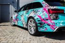 TROPICAL AZURE ART CAR EDITION Audi RS6 Avant Folierung 14 135x90 TROPICAL AZURE ART CAR EDITION No.2/3   Audi RS6 Avant