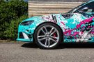 TROPICAL AZURE ART CAR EDITION Audi RS6 Avant Folierung 18 135x90 TROPICAL AZURE ART CAR EDITION No.2/3   Audi RS6 Avant