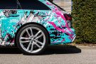 TROPICAL AZURE ART CAR EDITION Audi RS6 Avant Folierung 19 135x90 TROPICAL AZURE ART CAR EDITION No.2/3   Audi RS6 Avant