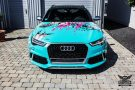 TROPICAL AZURE ART CAR EDITION Audi RS6 Avant Folierung 2 135x90 TROPICAL AZURE ART CAR EDITION No.2/3   Audi RS6 Avant