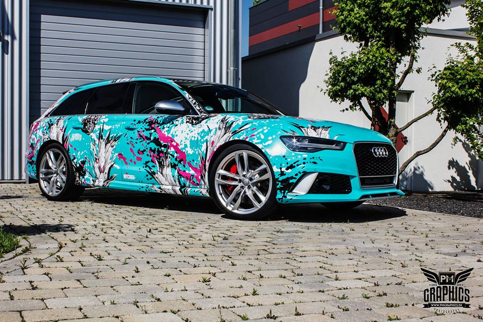 TROPICAL AZURE ART CAR EDITION Audi RS6 Avant Folierung 4 TROPICAL AZURE ART CAR EDITION No.2/3   Audi RS6 Avant