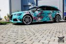 TROPICAL AZURE ART CAR EDITION Audi RS6 Avant Folierung 6 135x90 TROPICAL AZURE ART CAR EDITION No.2/3   Audi RS6 Avant