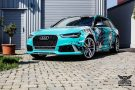 TROPICAL AZURE ART CAR EDITION Audi RS6 Avant Folierung 7 135x90 TROPICAL AZURE ART CAR EDITION No.2/3   Audi RS6 Avant