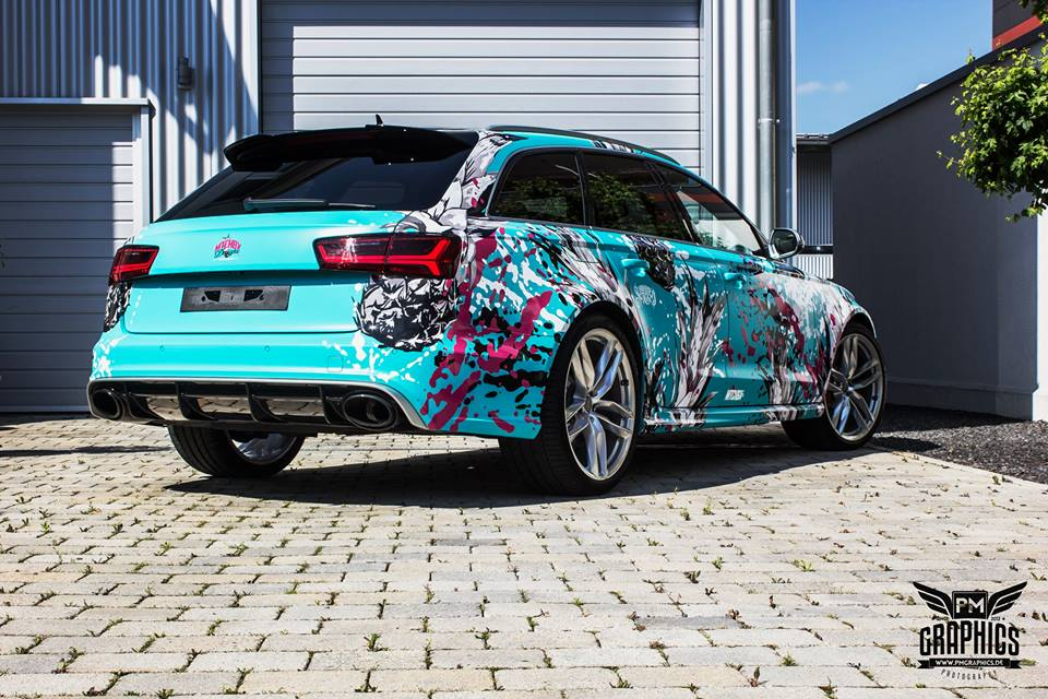 TROPICAL AZURE ART CAR EDITION Audi RS6 Avant Folierung 8 TROPICAL AZURE ART CAR EDITION No.2/3   Audi RS6 Avant