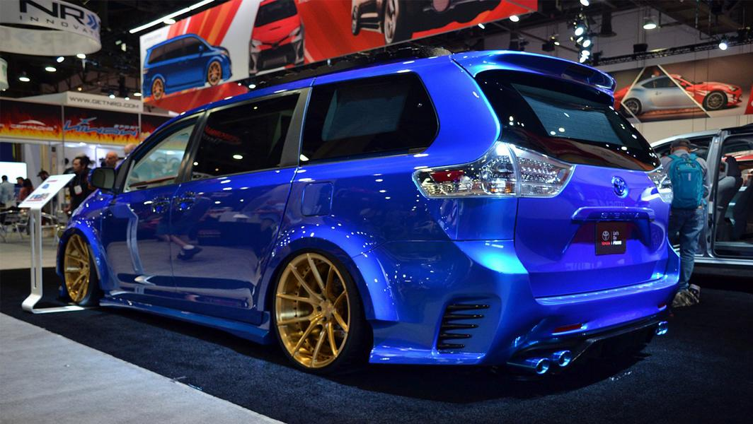 Toyota Sienna Luxus Van SEMA 2016 Tuning 8 Real Time Automotive Solutions   Toyota Sienna Luxus Van