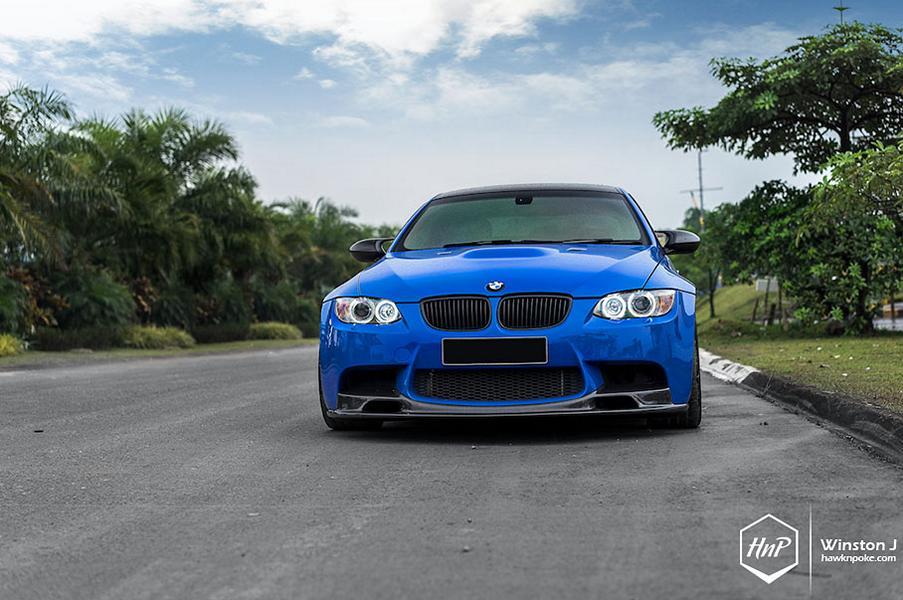 BMW E92 M3 ESS Kompressor HRE P101 Tuning 5 Mächtig   650PS BMW E92 M3 Coupe auf HRE P101 Felgen