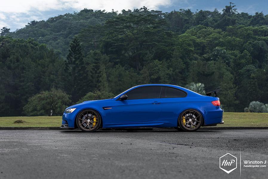 BMW E92 M3 ESS Kompressor HRE P101 Tuning 7 Mächtig   650PS BMW E92 M3 Coupe auf HRE P101 Felgen