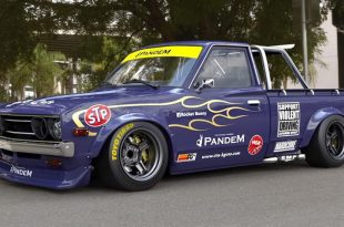 Datsun 620 Pickup Pandem rocektbunny Widebody Kit Tuning 1 310x205 Datsun 620 Pickup mit Pandem rocektbunny Widebody Kit
