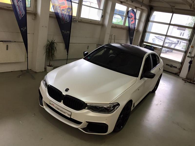 Diamond White Vollfolierung BMW G30 550i 2M Designs Tuning 8 Diamond White Vollfolierung am BMW G30 550i von 2M Designs