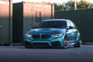 HRE R101LW BMW M3 F80 Atlantis Blue Tuning 1 190x127 Atlantis Blau & Brixton Forged Wheels am BMW M3 F80