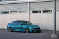 HRE R101LW BMW M3 F80 Atlantis Blue Tuning 11 190x127 Atlantis Blau & Brixton Forged Wheels am BMW M3 F80
