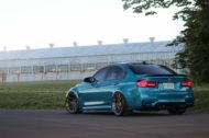 HRE R101LW BMW M3 F80 Atlantis Blue Tuning 2 190x126 Atlantis Blau & Brixton Forged Wheels am BMW M3 F80