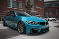 HRE R101LW BMW M3 F80 Atlantis Blue Tuning 3 190x127 Atlantis Blau & Brixton Forged Wheels am BMW M3 F80