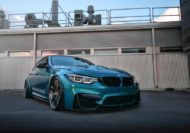 HRE R101LW BMW M3 F80 Atlantis Blue Tuning 4 190x133 Atlantis Blau & Brixton Forged Wheels am BMW M3 F80
