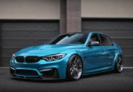 HRE R101LW BMW M3 F80 Atlantis Blue Tuning 7 190x132 Atlantis Blau & Brixton Forged Wheels am BMW M3 F80