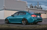 HRE R101LW BMW M3 F80 Atlantis Blue Tuning 8 190x122 Atlantis Blau & Brixton Forged Wheels am BMW M3 F80