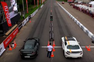 Mercedes SLS vs. Porsche 911 GT3 RS Z06 2 310x205 Video: 800PS Mercedes SLS vs. Porsche 911 GT3 RS & Z06