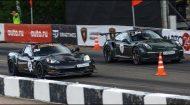 Mercedes SLS vs. Porsche 911 GT3 RS Z06 3 190x105 Video: 800PS Mercedes SLS vs. Porsche 911 GT3 RS & Z06